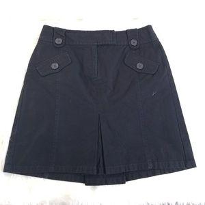 Ann Taylor Loft Black A-line Cargo Skirt